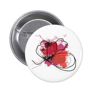 Flor abstracta roja JPEG del chapoteo del cepillo Pin