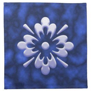 Flor abstracta servilletas de papel