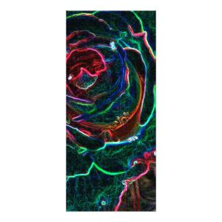 Flor abstracta tarjeta publicitaria personalizada