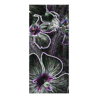 Flor abstracta diseños de tarjetas publicitarias