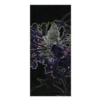 Flor abstracta tarjetas publicitarias personalizadas