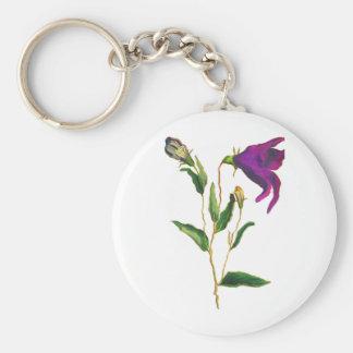 Flor acuosa llavero redondo tipo pin