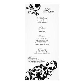 Flor afiligranada floral blanca del negro de 25 ta diseño de tarjeta publicitaria
