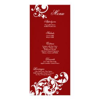 Flor afiligranada floral del rojo carmesí de 25 ta tarjeta publicitaria personalizada