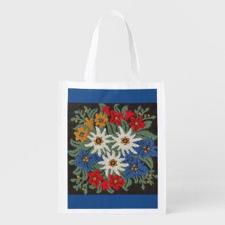 Flor alpina de Edelweiss Bolsas Para La Compra