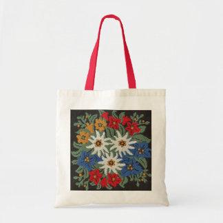 Flor alpina de Edelweiss Bolsa Tela Barata