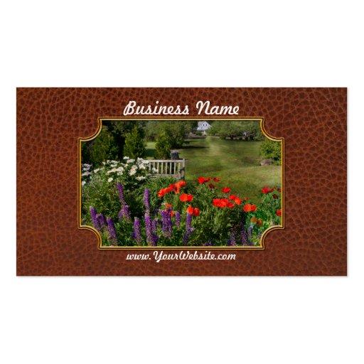 Flor - amapola - pedazo de cielo plantilla de tarjeta de visita