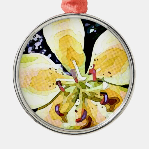 Flor amarela enfeites de natal