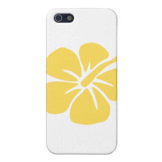 flor amarilla 1 del hibisco iPhone 5 protector