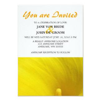 Flor amarilla 5x7 de la cala comunicado personal