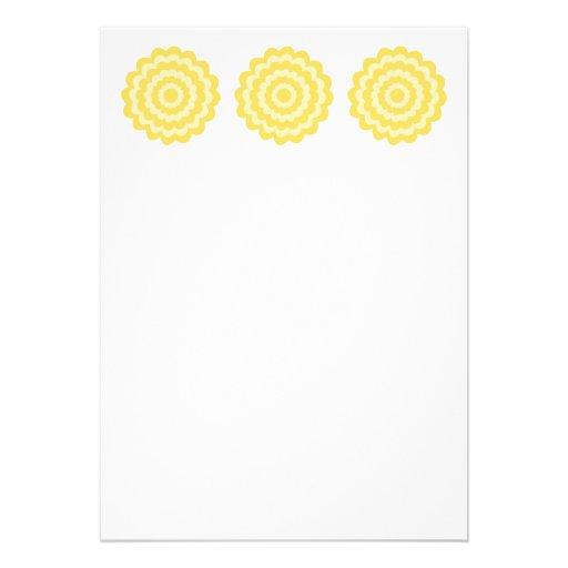 Flor amarilla anuncio personalizado