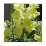 Flor amarilla azulejo cerámica