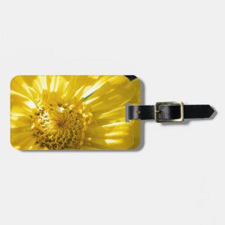 Flor amarilla brillante (regalo) etiqueta para equipaje