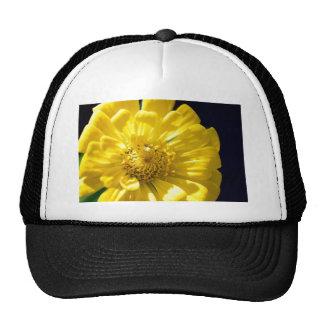 Flor amarilla brillante (regalo) gorros bordados