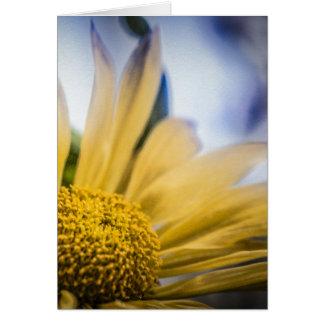 Flor amarilla brillante tarjetas