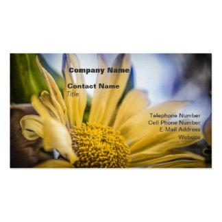 Flor amarilla brillante tarjetas de visita