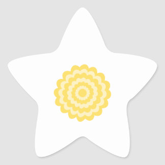 Flor amarilla calcomania cuadrada personalizada
