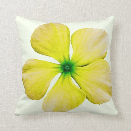 Flor amarilla cojín