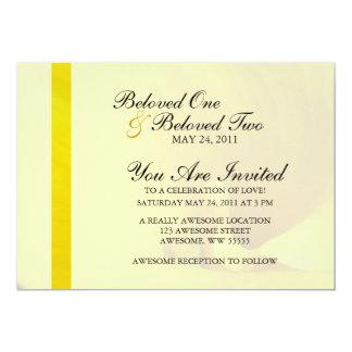 """Flor amarilla de la cala invitación 5"""" x 7"""""""