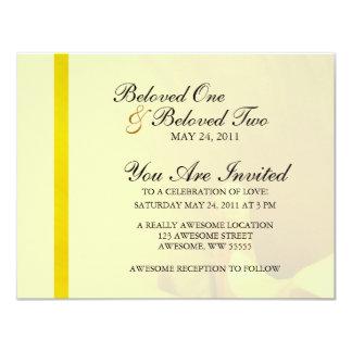 Flor amarilla de la cala invitaciones personales