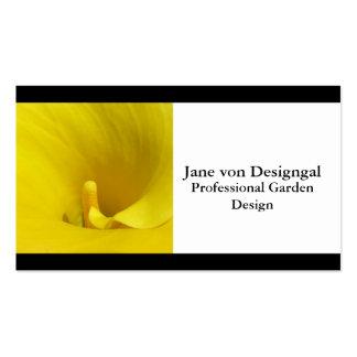 Flor amarilla de la cala tarjetas de visita