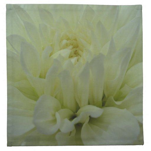 Flor amarilla de la dalia servilleta de papel