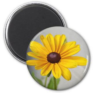 Flor amarilla de oro imán redondo 5 cm