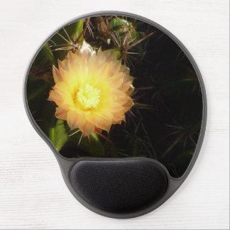 Flor amarilla del cactus alfombrilla de ratón con gel