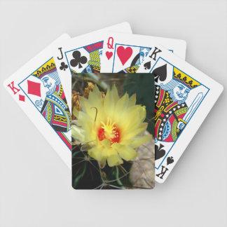 Flor amarilla del cactus del anzuelo cartas de juego