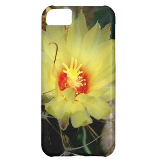 Flor amarilla del cactus del anzuelo funda para iPhone 5C