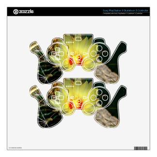 Flor amarilla del cactus del anzuelo mando PS3 skins