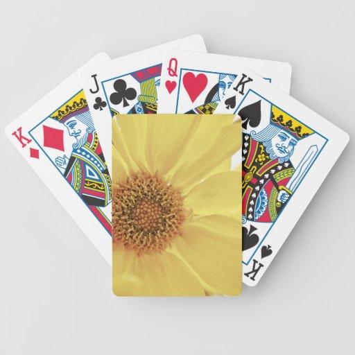 Flor amarilla del crisantemo cartas de juego