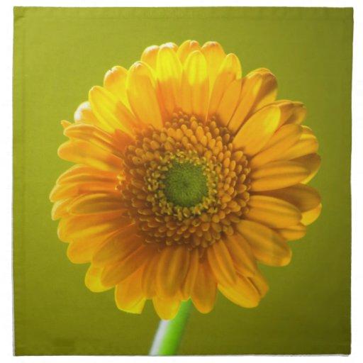 Flor amarilla del Gerbera de la margarita Servilleta
