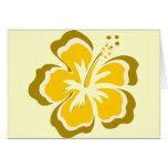 Flor amarilla del hibisco tarjeta