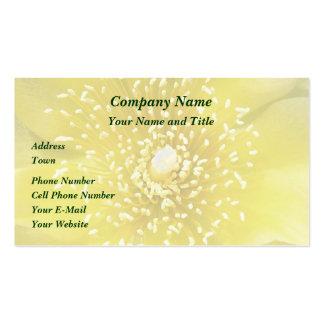 Flor amarilla del higo chumbo del cactus tarjetas de visita