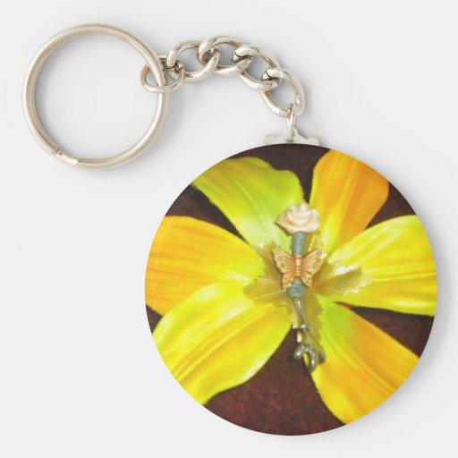 flor amarilla del llavero