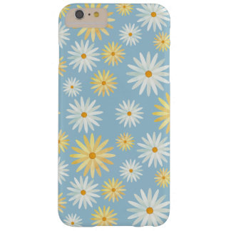 Flor amarilla del nacimiento de abril de las funda para iPhone 6 plus barely there