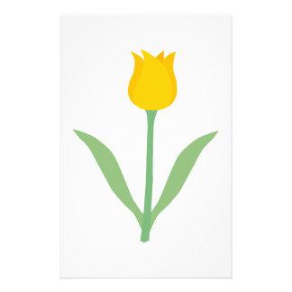 Flor amarilla del tulipán tarjetas publicitarias
