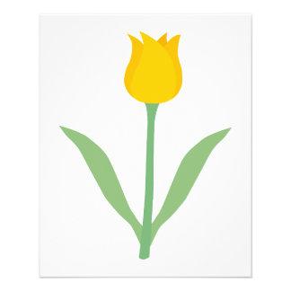 Flor amarilla del tulipán flyer a todo color