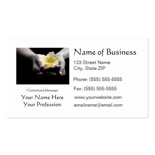 Flor amarilla elegante en flores hermosas de las tarjetas de visita