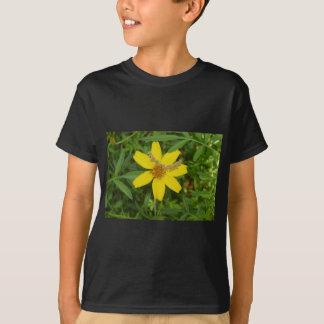 Flor amarilla en la hierba playera