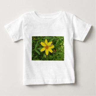 Flor amarilla en la hierba playera de bebé