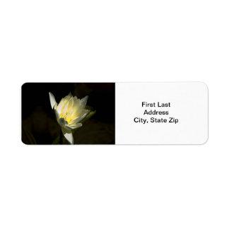 Flor amarilla etiquetas de remite