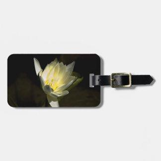 Flor amarilla etiquetas para equipaje