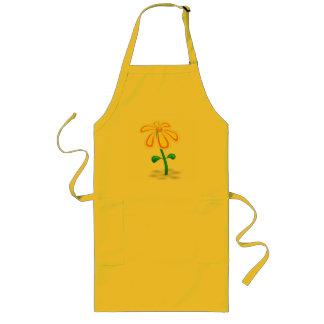 Flor amarilla feliz delantal largo