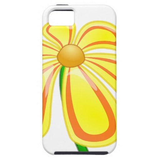 Flor amarilla feliz iPhone 5 carcasa