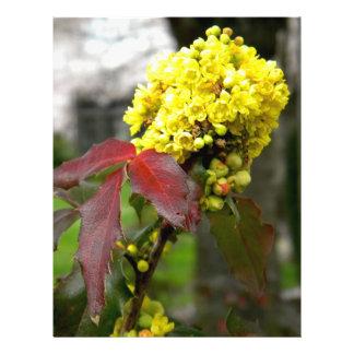 Flor amarilla tarjetones