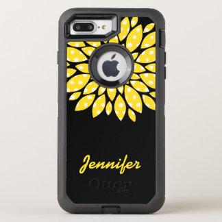 Flor amarilla funda OtterBox defender para iPhone 7 plus