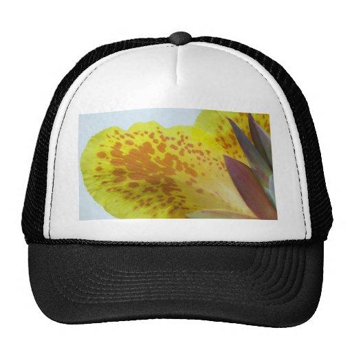 Flor amarilla gorros bordados