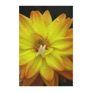 Flor amarilla hermosa impresión en lienzo